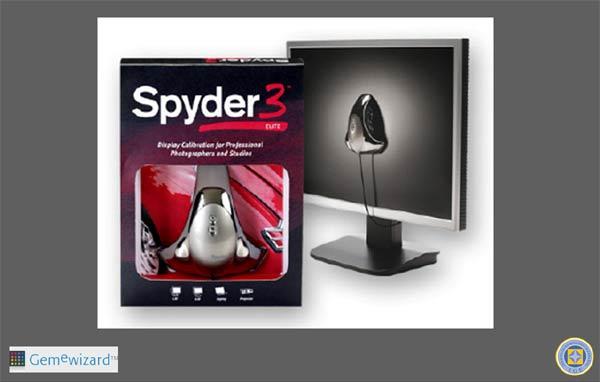 Sistema de calibración de pantallas Spyder.