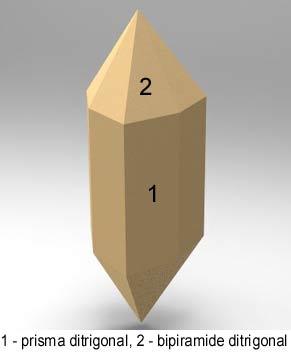 Cristalografía - formas compuestas: trigonal